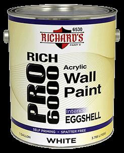 6530 Rich Pro 6000 Interior Acrylic Wall Paint Eggshell